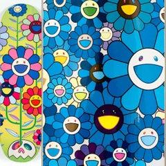 Takashi Murakami Skateboard Decks (Set of 2 Murakami flowers skate decks)