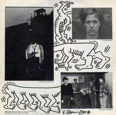 Rare Original Keith Haring Vinyl Record Art 1985