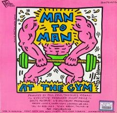 Rare Original Keith Haring Vinyl Record Art (vintage Keith Haring)