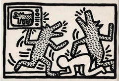Keith Haring at Barbara Gladstone 1982 (Keith Haring 6 Lithographs announcement)