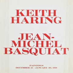 Jean-Michel Basquiat Keith Haring at Tony Shafrazi 1990/1991 (announcement)