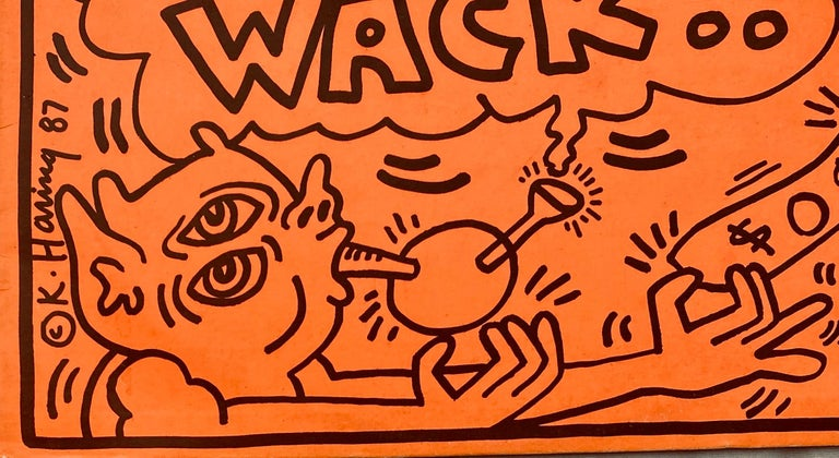 "Rare Keith Haring ""Life is Fresh! Crack Is Wack!"" 1987: A highly sought-after 1980s record album featuring original artwork by Keith Haring. Among the most difficult to find of Keith Haring record illustrations.   Haring's cover illustration here"