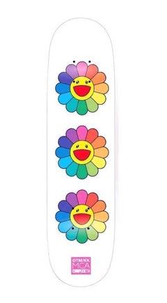 Murakami Flowers Skateboard Deck