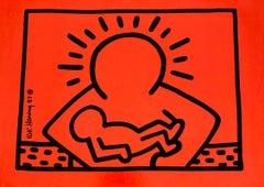 Rare Original Keith Haring Vinyl Record Art (Keith Haring Run Dmc)