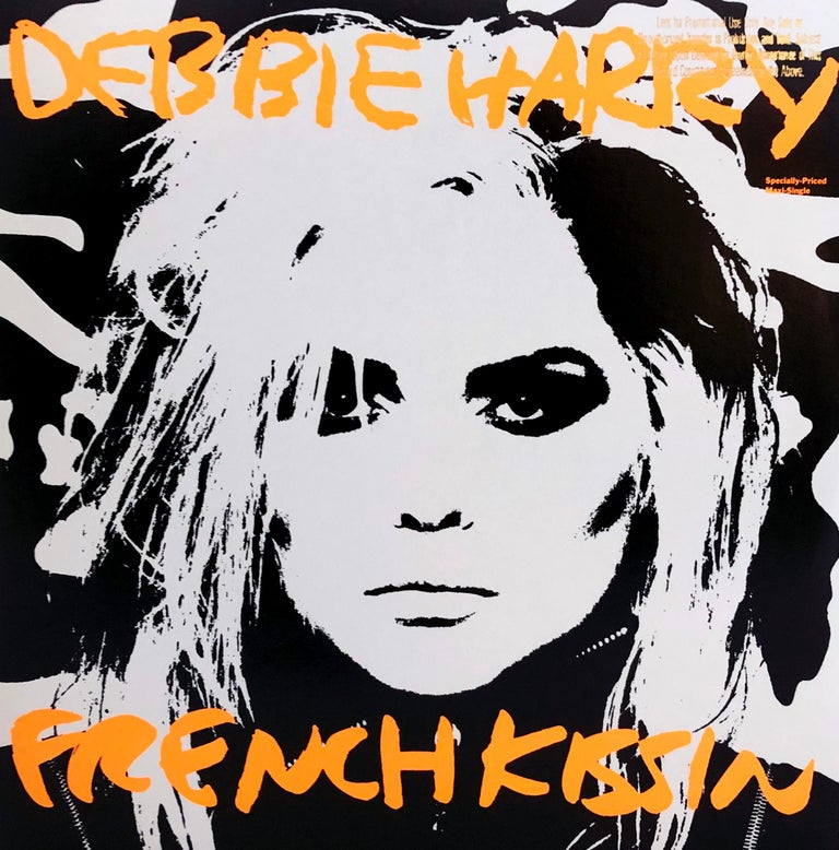 "Andy Warhol Album Cover Art, 1986: Debbie Harry, ""French Kissin"" Vinyl Album; 1986 1st pressing.  Featured prominently in 'Andy Warhol: The Record Covers, 1949-1987, a Catalog Raisonne' by Warhol scholar Paul Marechal. Inspired by Warhol's noted"