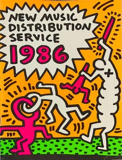 Keith Haring New Music Distribution Service catalog, 1986 (vintage Keith Haring)
