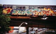 Dondi, Zephyr, Charlie Ahearn Heroin Kills graffiti photograph: Bronx, NY 1981