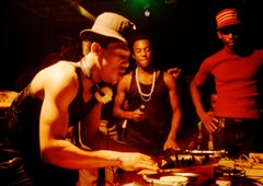 DJ Lovebug, Grandmaster Caz, Busy Bee photograph: Harlem 1980 by Charlie Ahearn