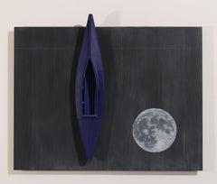 Blackboard/Full Moon/Blue Boat