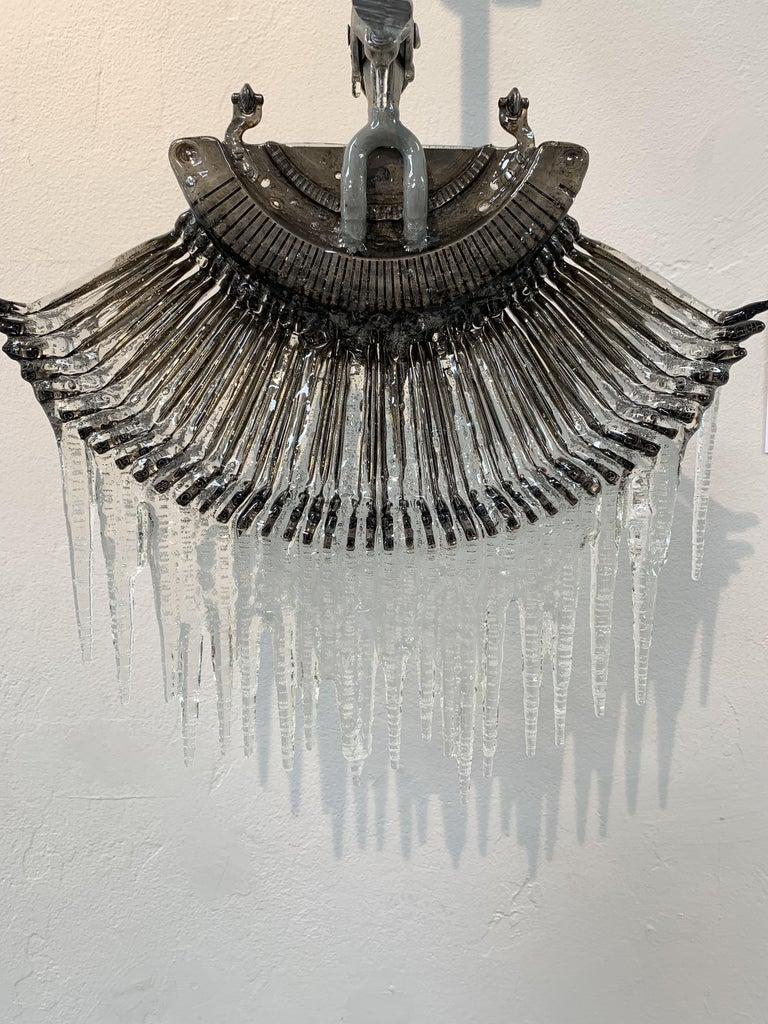 Stricker Fan II - Contemporary Mixed Media Art by Daniella Dooling