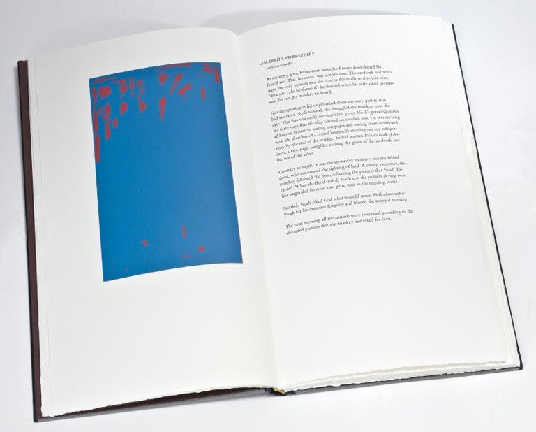 Handmade letterpress book with engravings by Richard Wagener.