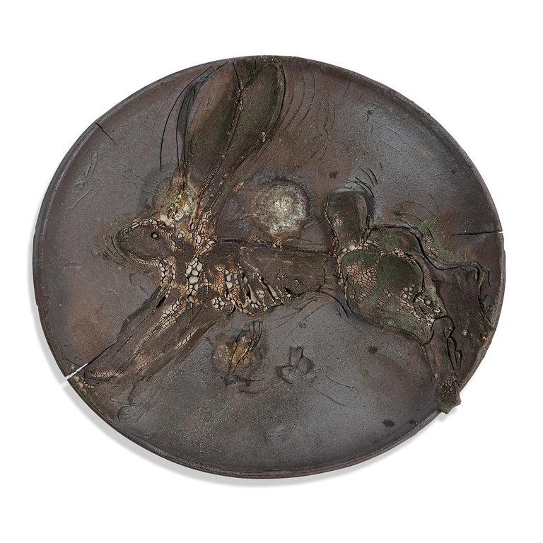 stoneware, glaze signed by artist