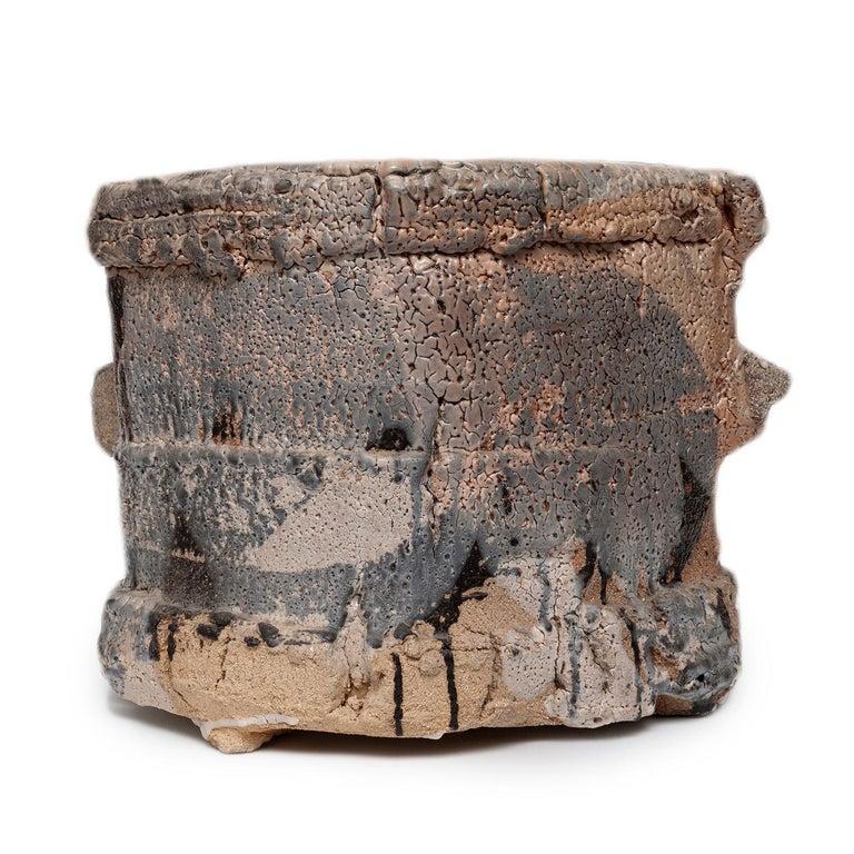 Wood Fired Shino Glaze Vessel by Jeff Shapiro For Sale 2