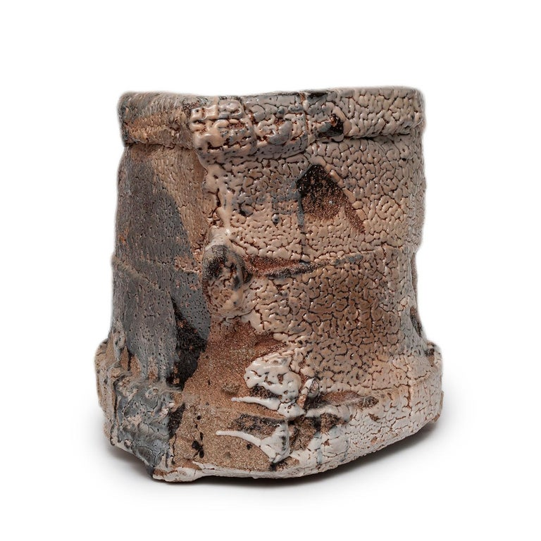 Wood Fired Shino Glaze Vessel by Jeff Shapiro For Sale 3