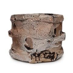 Wood Fired Shino Glaze Vessel by Jeff Shapiro