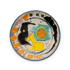 "Untitled Blue ""Sara Series Platter"""