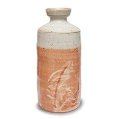 Large Shino glaze with Finger Swipes by Warren MacKenzie