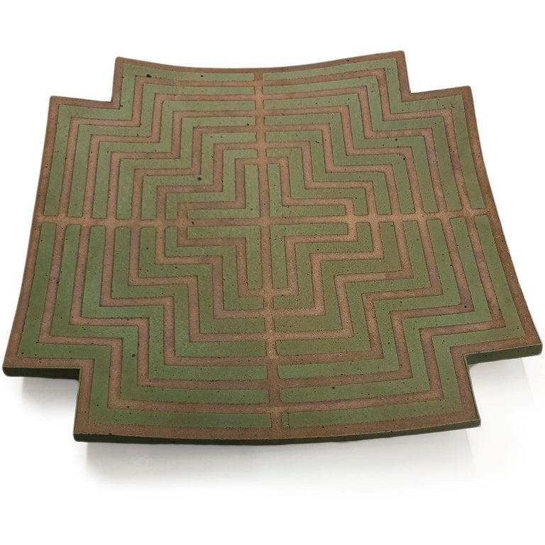 Labyrinth Wall Platter by John Mason  1