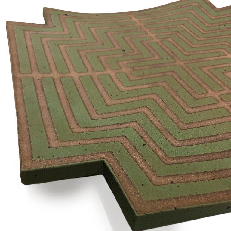 Labyrinth Wall Platter by John Mason  2
