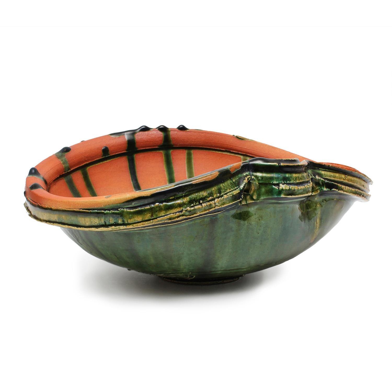 Large Oribe Bowl by Higashida Shigemasa (INV# NP2792)