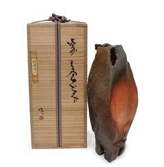 Bizen Vase with Box by Ryuichi Kakurezaki (INV# NP2774)