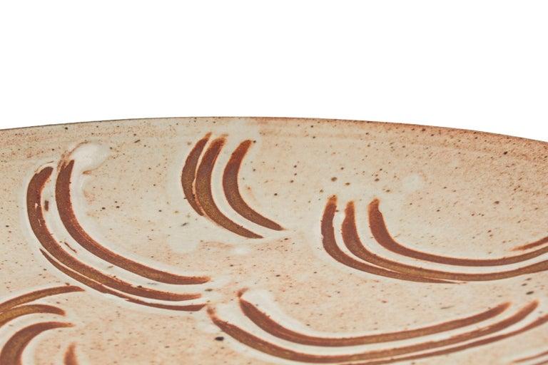 Museum Quality Shino platter by Warren MacKenzie For Sale 3