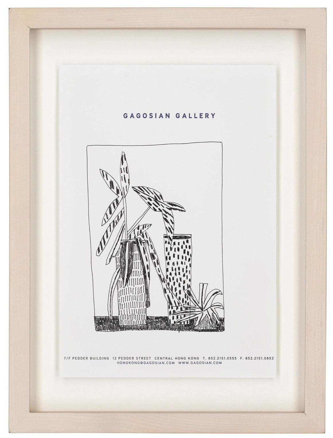 Original Untitled Plant and Vase Drawing by Jonas Wood