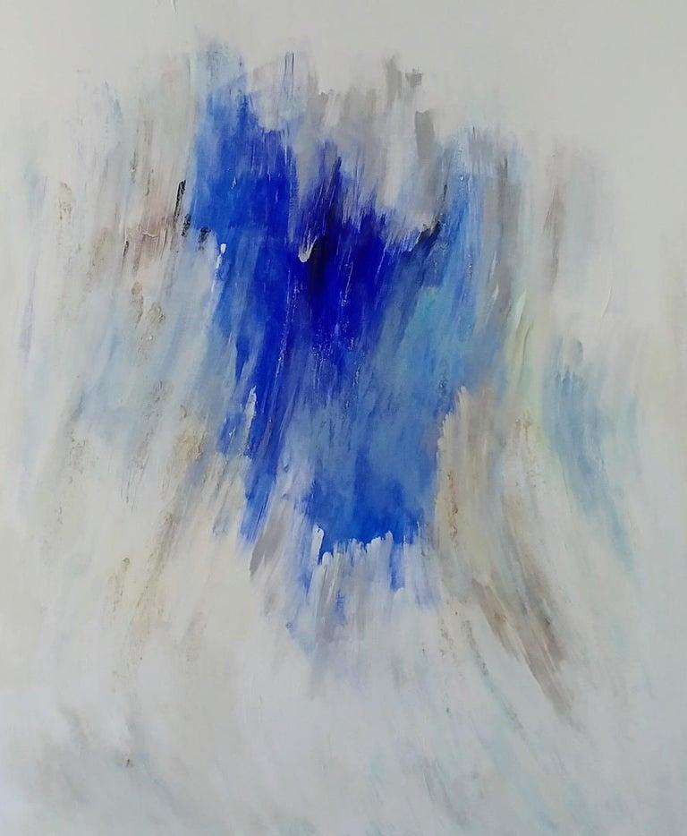 Nancy Seibert Abstract Painting - Silver Lake Memories