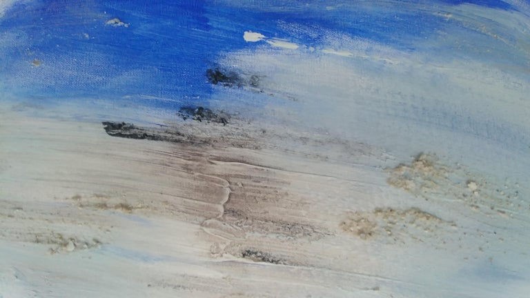 Silver Lake Memories - Abstract Painting by Nancy Seibert