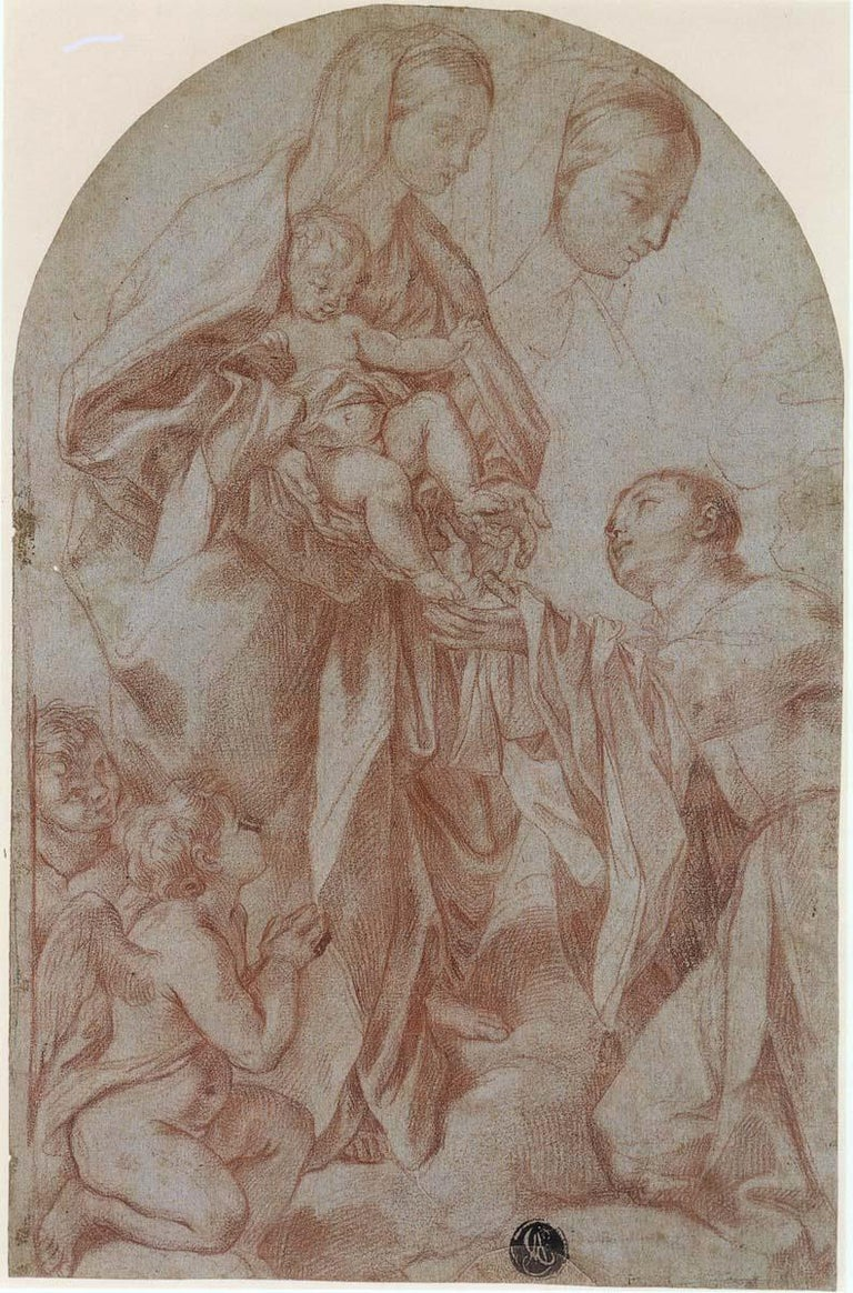 Madonna and Child and Saint with Two Angels - Art by Carlo Maratta