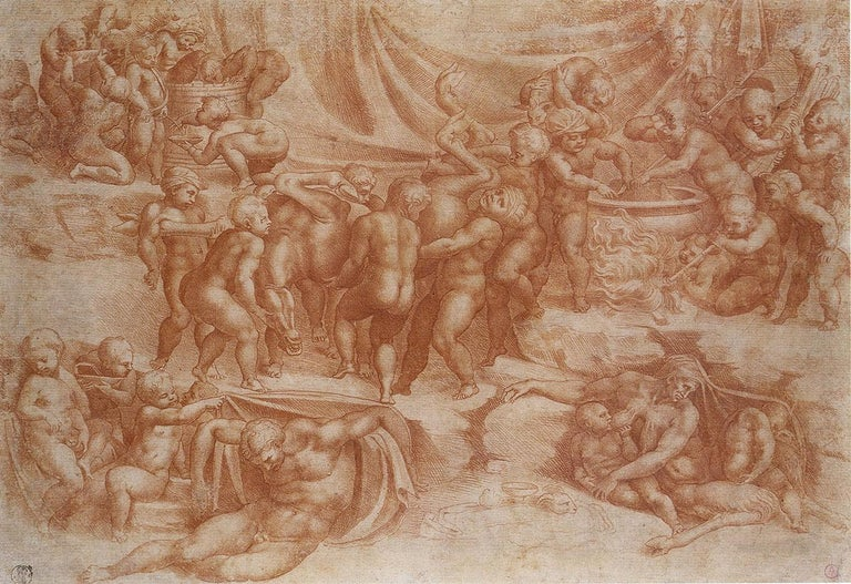 A Bacchanal of Children - Art by (After) Michelangelo Buonarroti