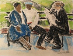 UNTITLED (THREE PEOPLE ON A PARK BENCH)