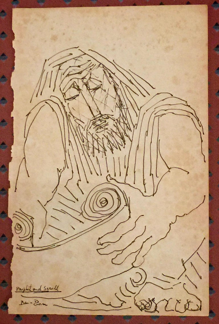 Ben-Zion Figurative Art - PROPHET AND SCROLL