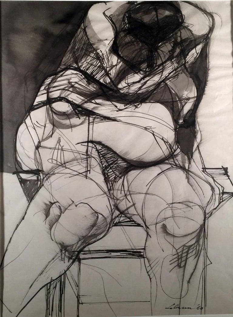Rico Lebrun Figurative Art - MUTILATED FIGURE