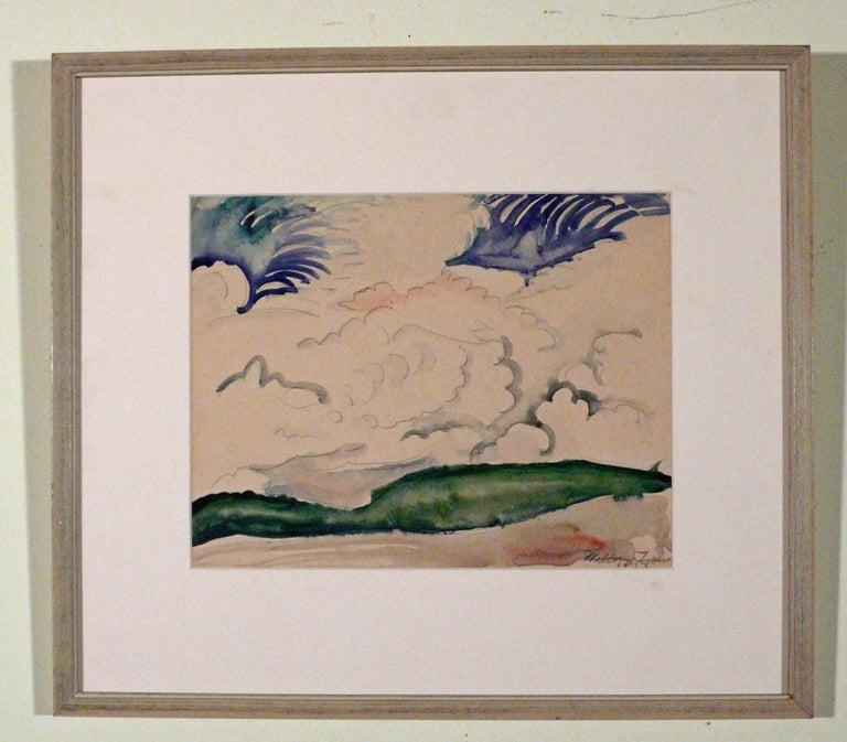 LANDSCAPE WITH CLOUDS - Art by William Zorach