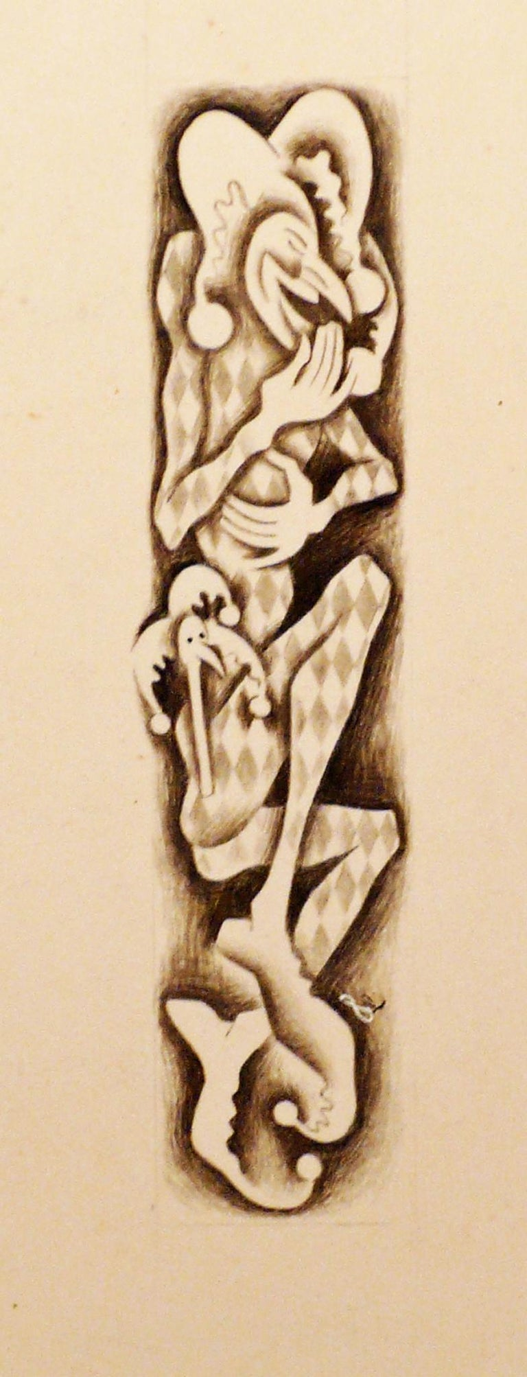 COMEDIA DEL ARTE - TWO DRAWINGS.  - Art by Francis Danovich