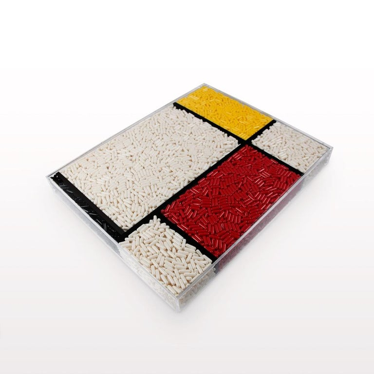 HE-Art Disease - pill box (wall hanging or lays flat) - Sculpture by Francesco Vullo