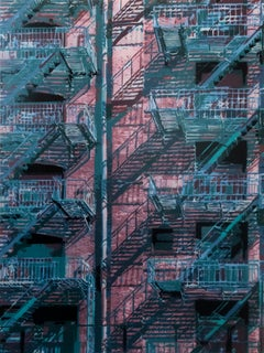 """Rear Window 2"" - (18 layer spray paint stencil)"