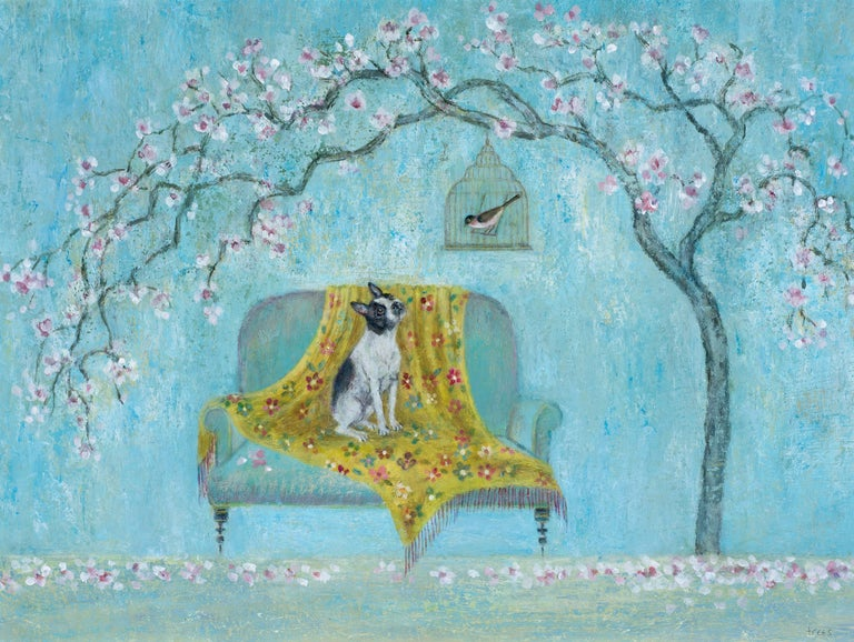 Tracy Rees Animal Painting - Birdsong - Contemporary - Animal painting - Figurative art