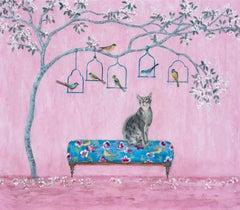 Birdwatching - Contemporary - Interior scenes - Animal painting