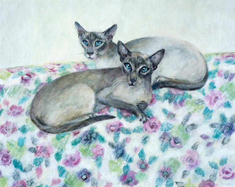 Tracy Rees Figurative Painting - Siamese