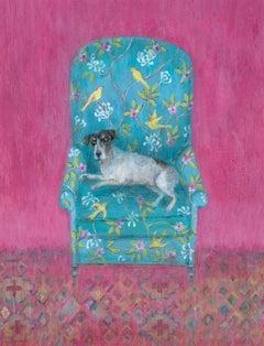 Creature Comforts - Contemporary - Animal painting - Interior scene