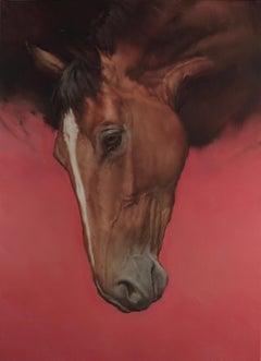 Equus II - horse painting - animal painting - figurative art
