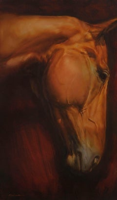 Head XII - horse painting - contemporary - figurative art