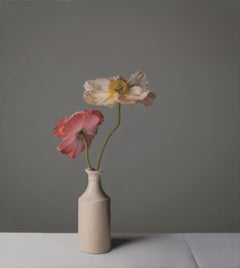 Still Life with Red and Pink Icelandic Poppies