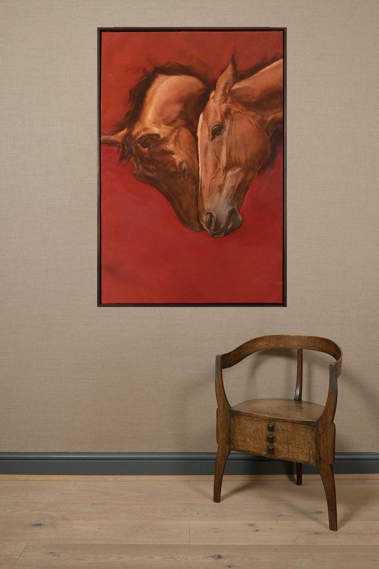 Equus V - Painting by Michael J Austin