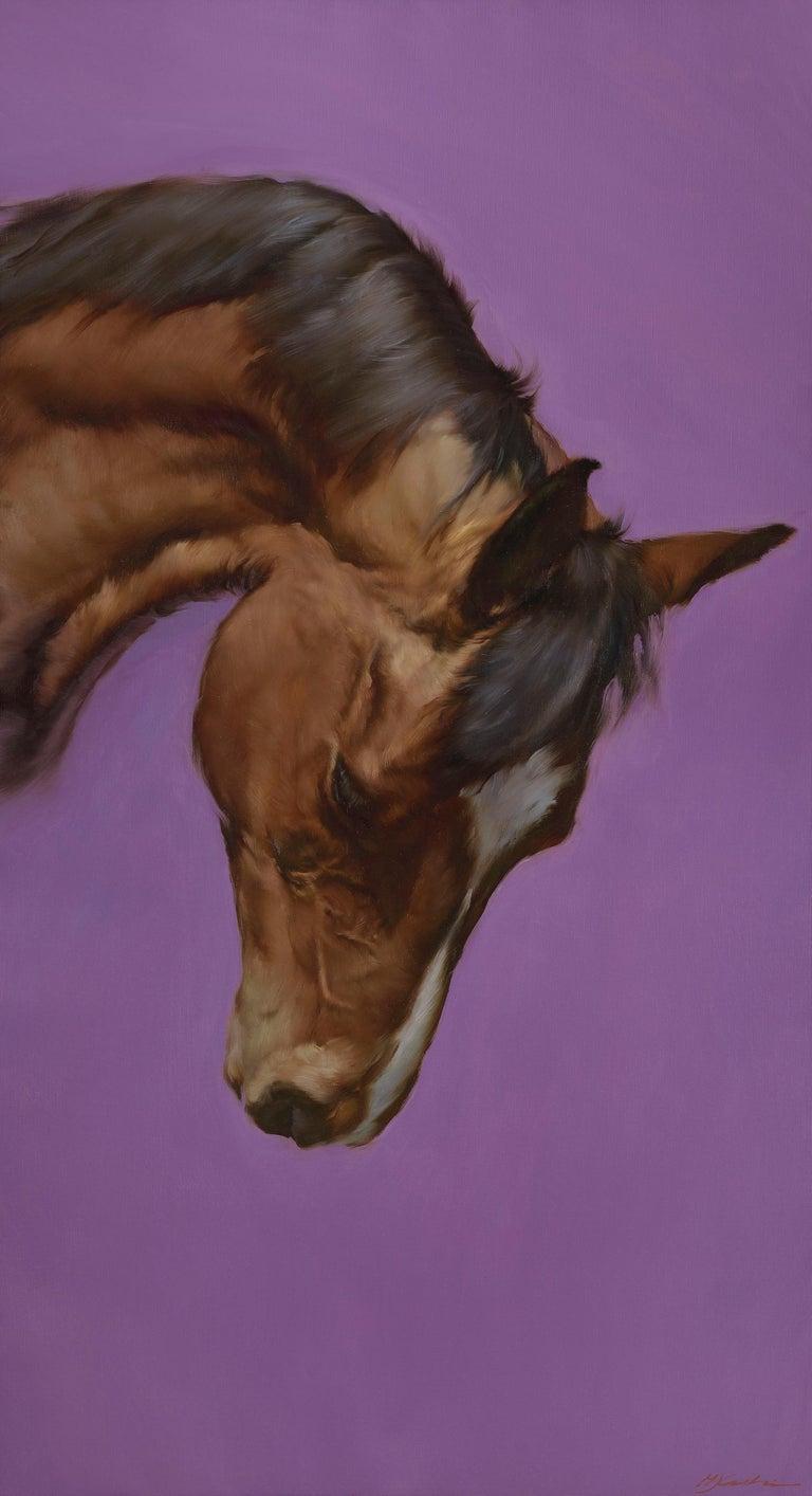 Equus VI - Painting by Michael J Austin