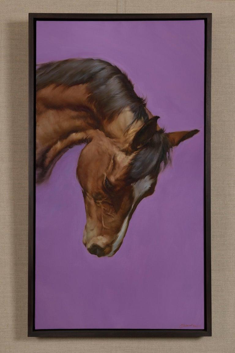 Equus VI - Contemporary Painting by Michael J Austin