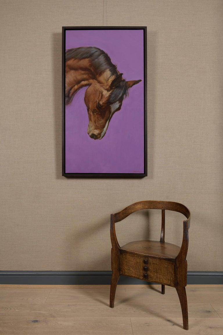 Equus VI - Gray Animal Painting by Michael J Austin