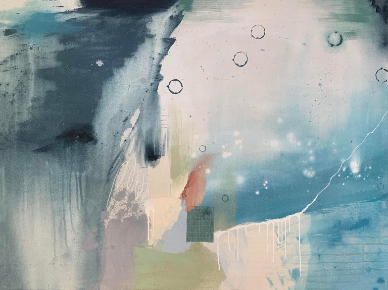 Contemporary Abstract painting, Rebecca Stern, Below the Surface II - Painting by Rebecca Stern